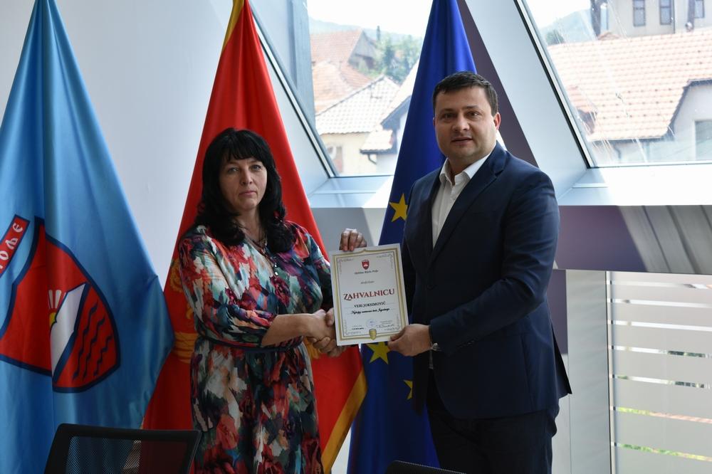 Vera Joksimović najbolja nastavnica bivše Jugoslavije na prijemu kod predsjednika Opštine