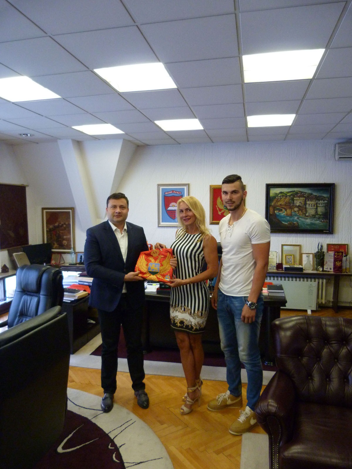 Balkanska i svjetska šampionka na prijemu kod predsjednika Opštine